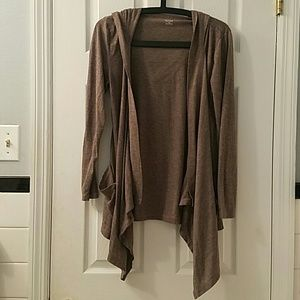 Long Sleeved Cardigan with Hood